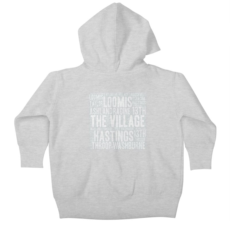 I'm from the Village (white) Kids Baby Zip-Up Hoody by J. Brantley Design Shop