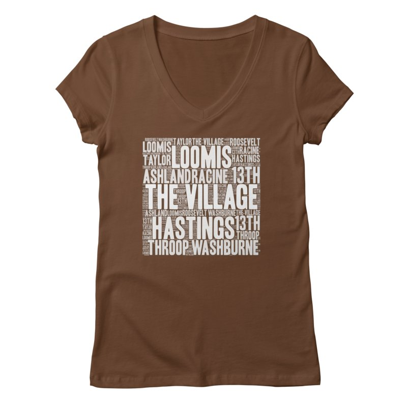 I'm from the Village (white) Women's Regular V-Neck by J. Brantley Design Shop