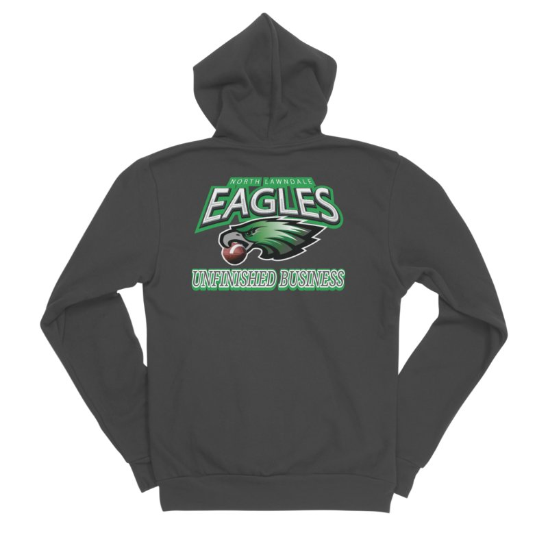 North Lawndale Eagles Unfinished Business Men's Sponge Fleece Zip-Up Hoody by J. Brantley Design Shop