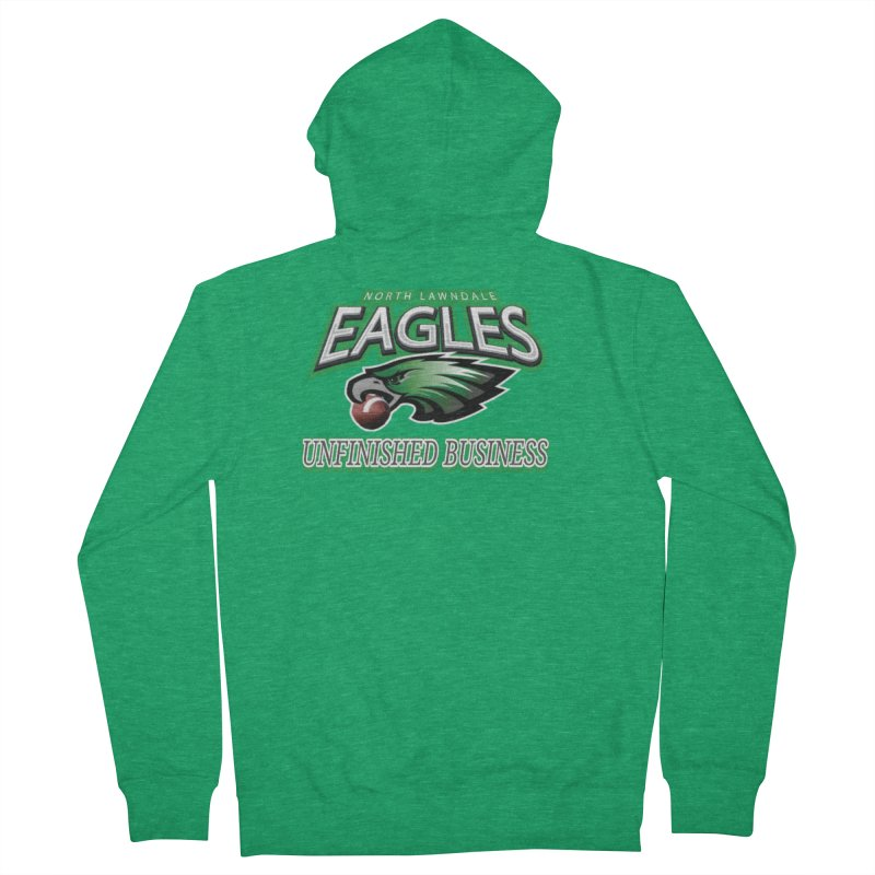 North Lawndale Eagles Unfinished Business Women's Zip-Up Hoody by J. Brantley Design Shop