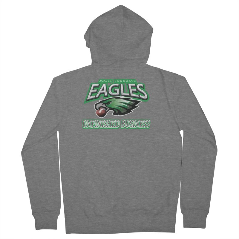 North Lawndale Eagles Unfinished Business Men's French Terry Zip-Up Hoody by J. Brantley Design Shop