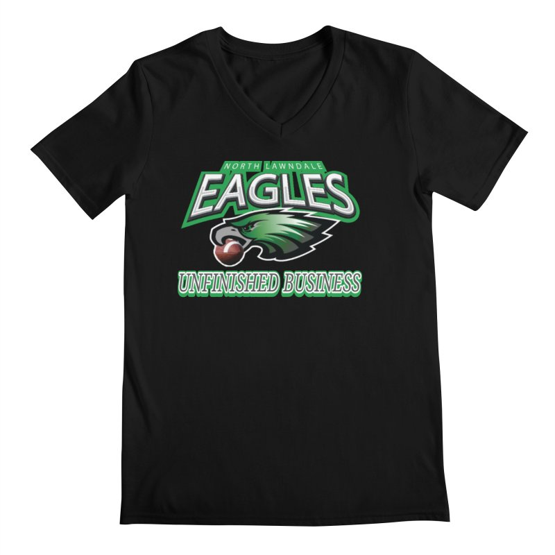 North Lawndale Eagles Unfinished Business Men's Regular V-Neck by J. Brantley Design Shop