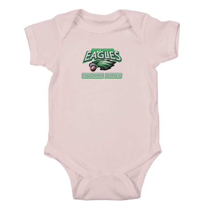 North Lawndale Eagles Unfinished Business Kids Baby Bodysuit by J. Brantley Design Shop