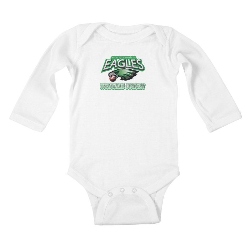North Lawndale Eagles Unfinished Business Kids Baby Longsleeve Bodysuit by J. Brantley Design Shop