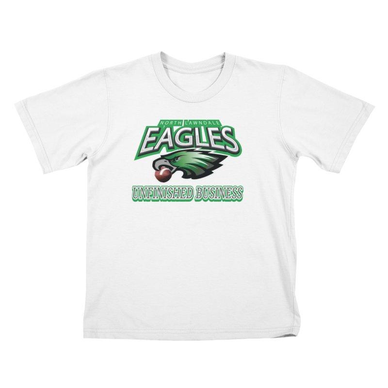 North Lawndale Eagles Unfinished Business Kids T-Shirt by J. Brantley Design Shop