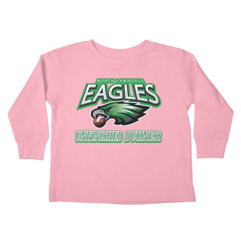 North Lawndale Eagles Unfinished Business Kids Toddler Longsleeve T-Shirt by J. Brantley Design Shop