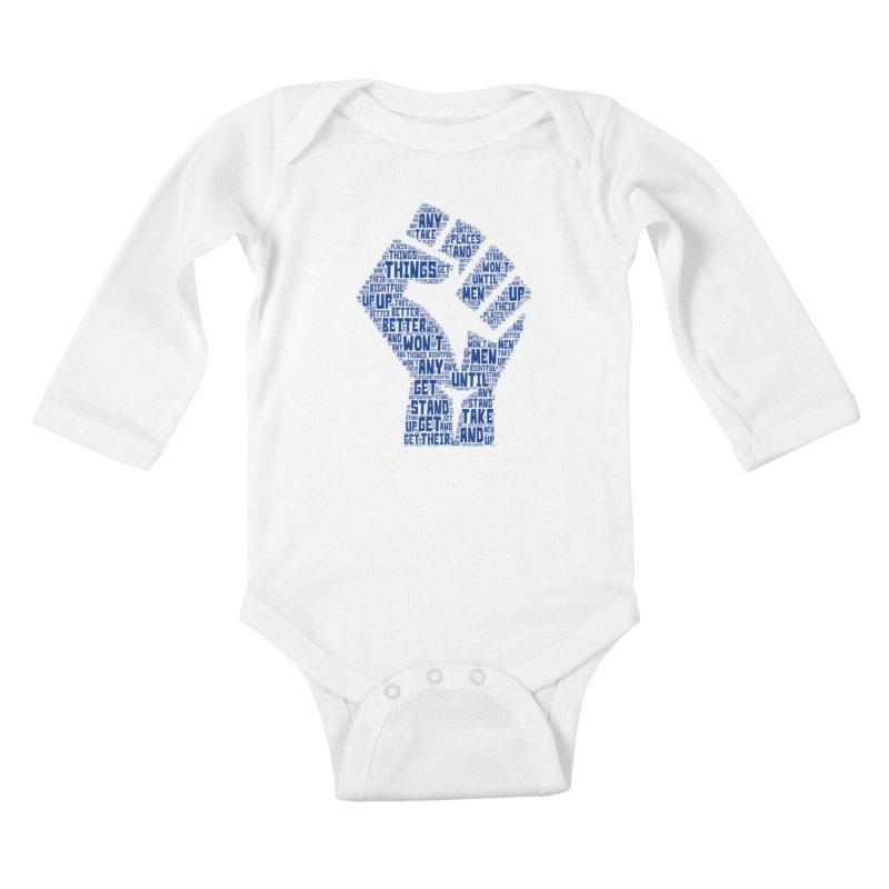 MEN STAND UP Kids Baby Longsleeve Bodysuit by J. Brantley Design Shop