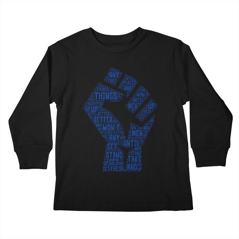 MEN STAND UP Kids Longsleeve T-Shirt by J. Brantley Design Shop