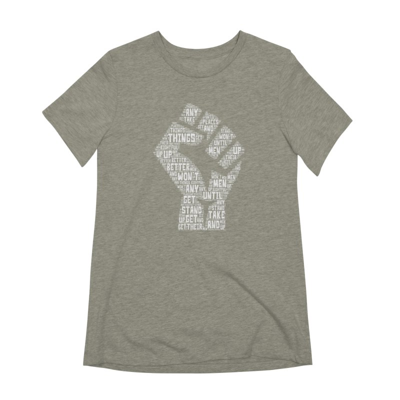 MEN STAND UP (white) Women's Extra Soft T-Shirt by J. Brantley Design Shop