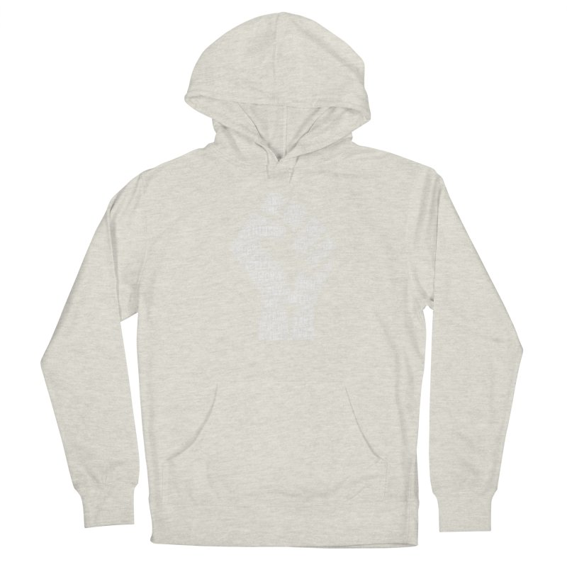 MEN STAND UP (white) Women's French Terry Pullover Hoody by J. Brantley Design Shop