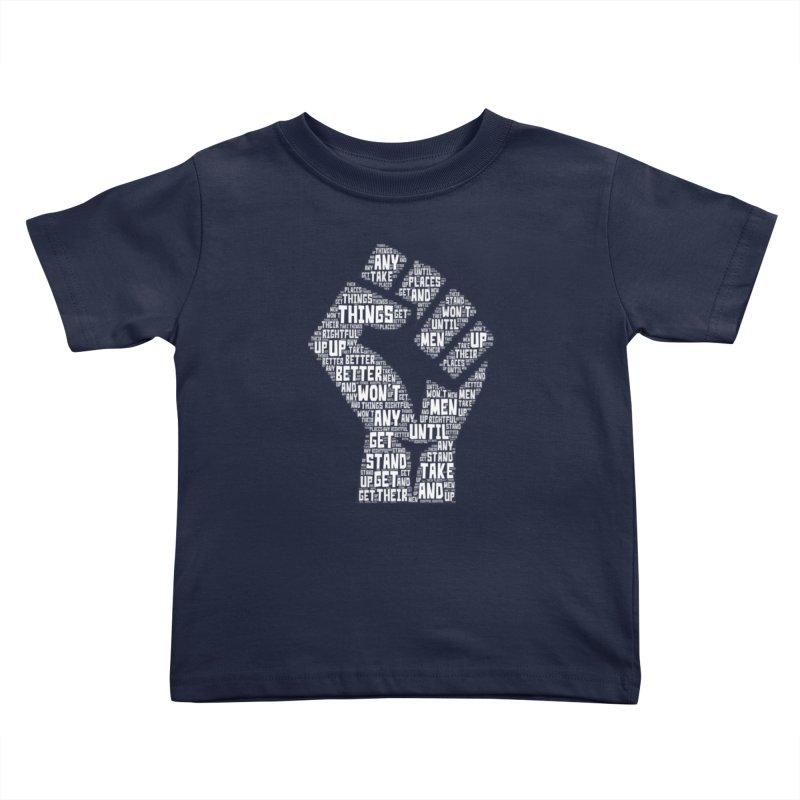 MEN STAND UP (white) Kids Toddler T-Shirt by J. Brantley Design Shop