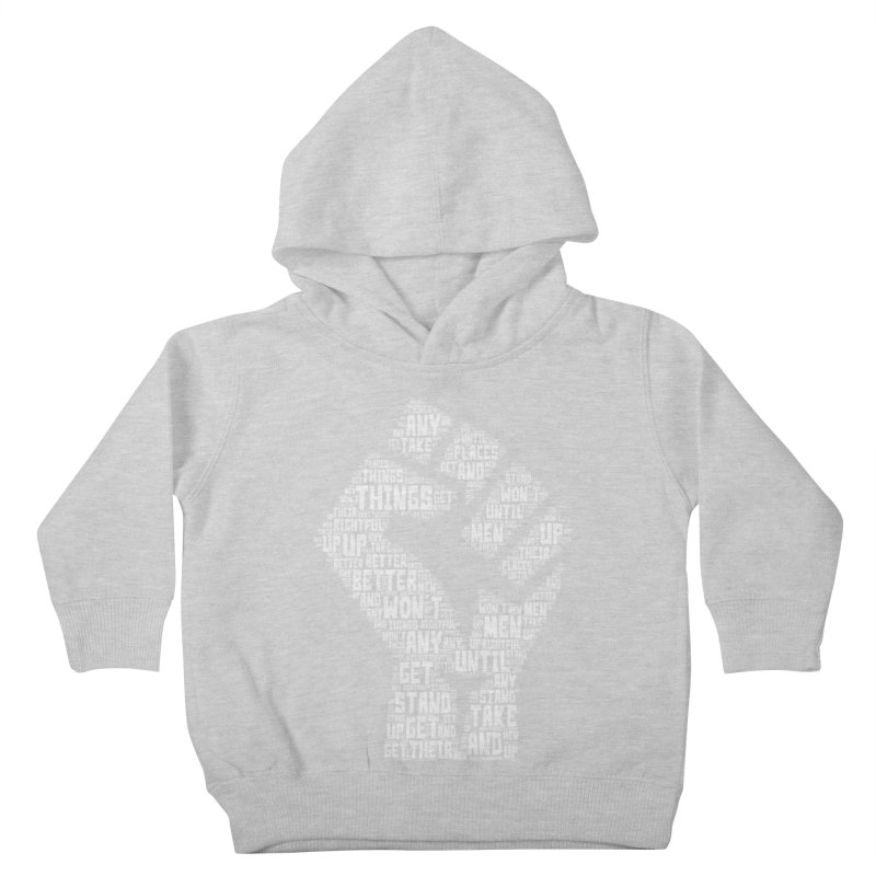 MEN STAND UP (white) Kids Toddler Pullover Hoody by J. Brantley Design Shop