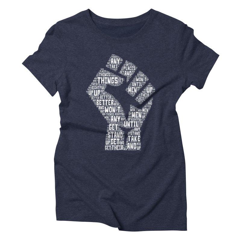 MEN STAND UP (white) Women's Triblend T-Shirt by J. Brantley Design Shop