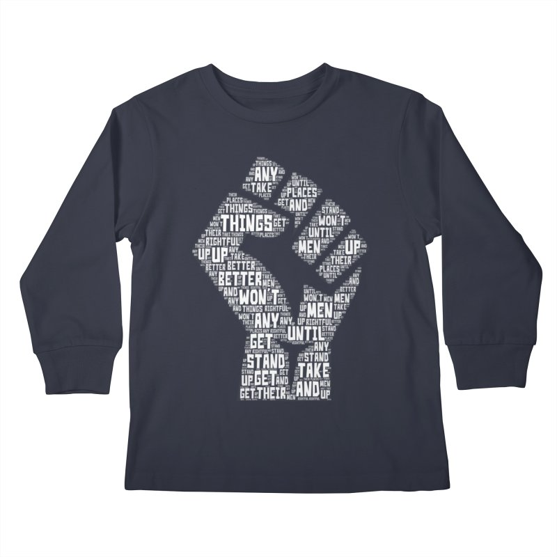 MEN STAND UP (white) Kids Longsleeve T-Shirt by J. Brantley Design Shop
