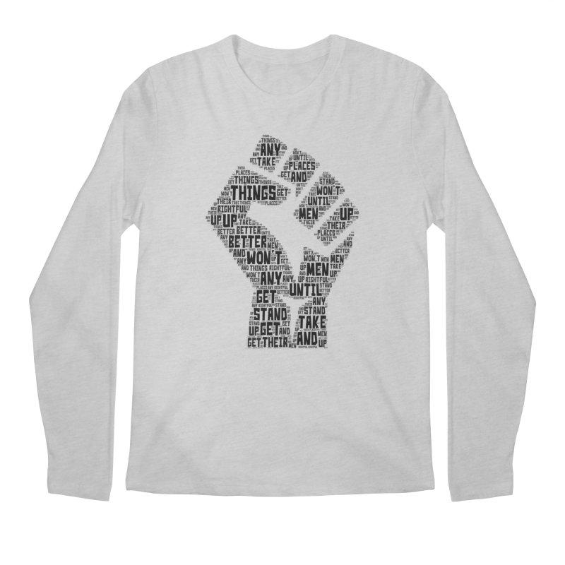 MEN STAND UP (Black) Men's Regular Longsleeve T-Shirt by J. Brantley Design Shop