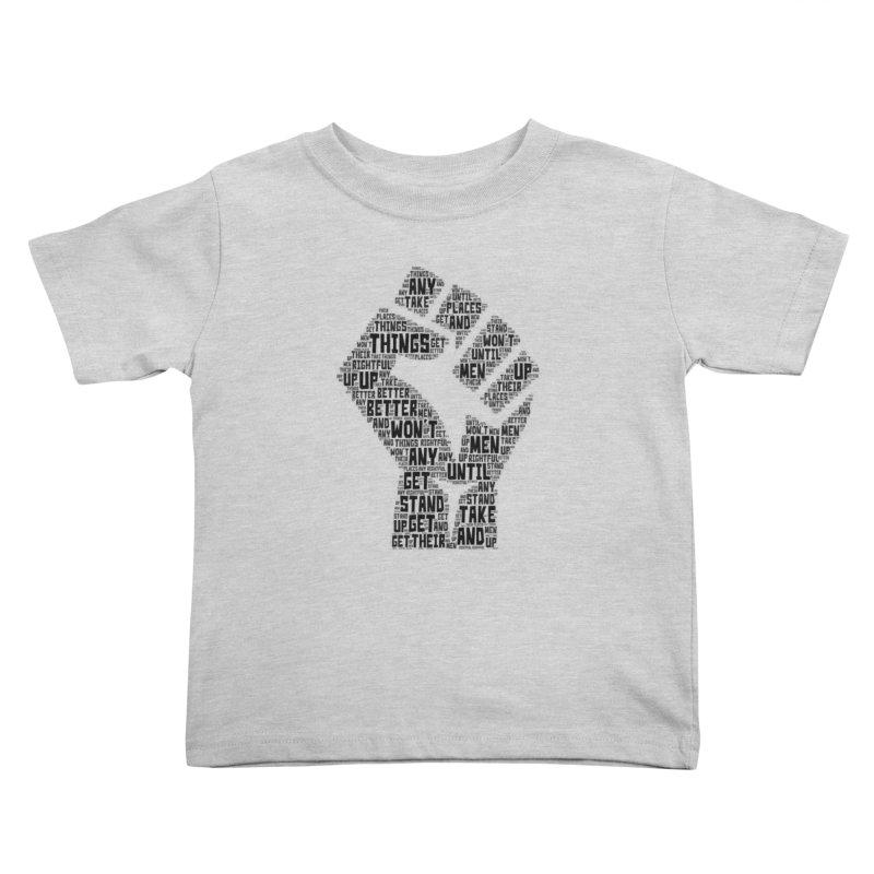 MEN STAND UP (Black) Kids Toddler T-Shirt by J. Brantley Design Shop
