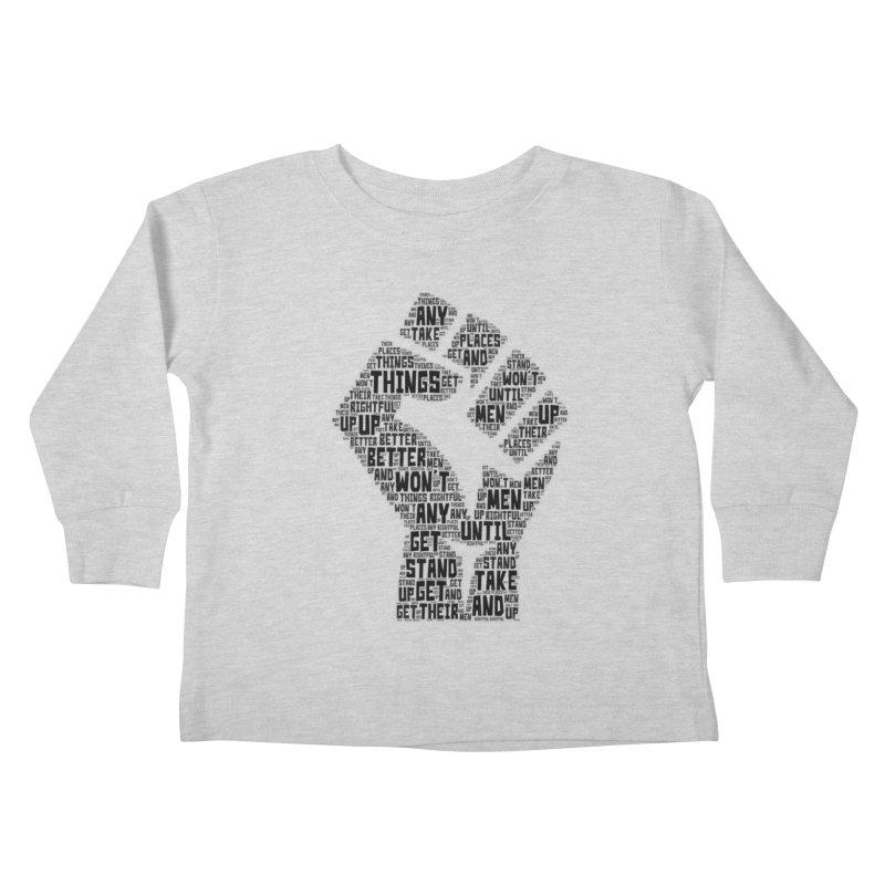 MEN STAND UP (Black) Kids Toddler Longsleeve T-Shirt by J. Brantley Design Shop