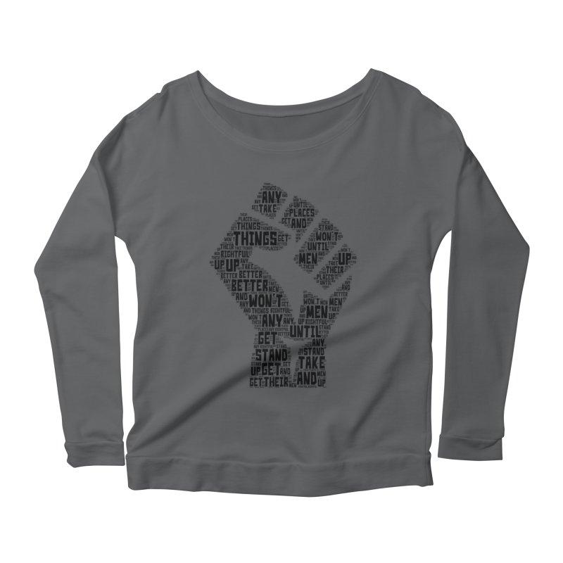 MEN STAND UP (Black) Women's Longsleeve T-Shirt by J. Brantley Design Shop