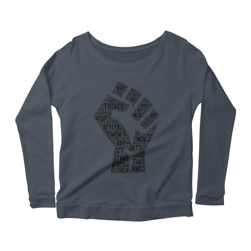 MEN STAND UP (Black) Women's Scoop Neck Longsleeve T-Shirt by J. Brantley Design Shop