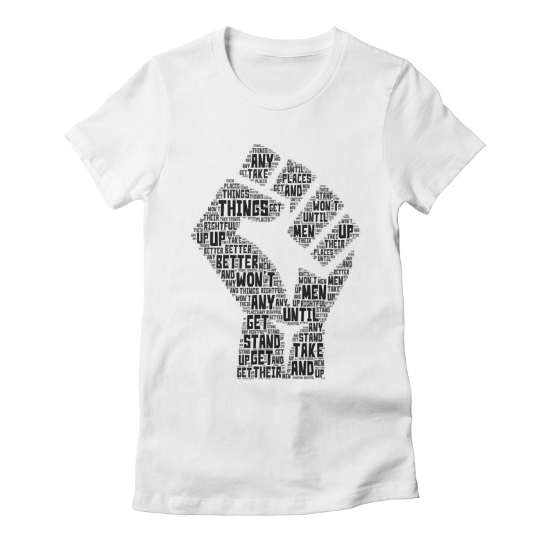 MEN STAND UP (Black) Women's Fitted T-Shirt by J. Brantley Design Shop