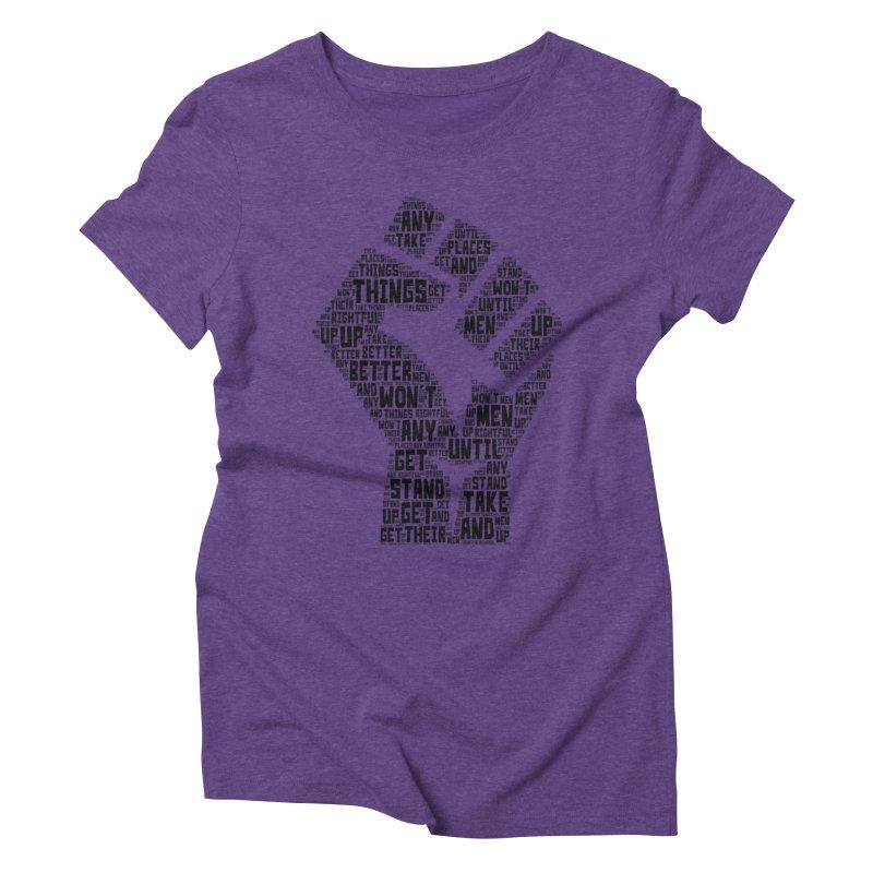 MEN STAND UP (Black) Women's Triblend T-Shirt by J. Brantley Design Shop
