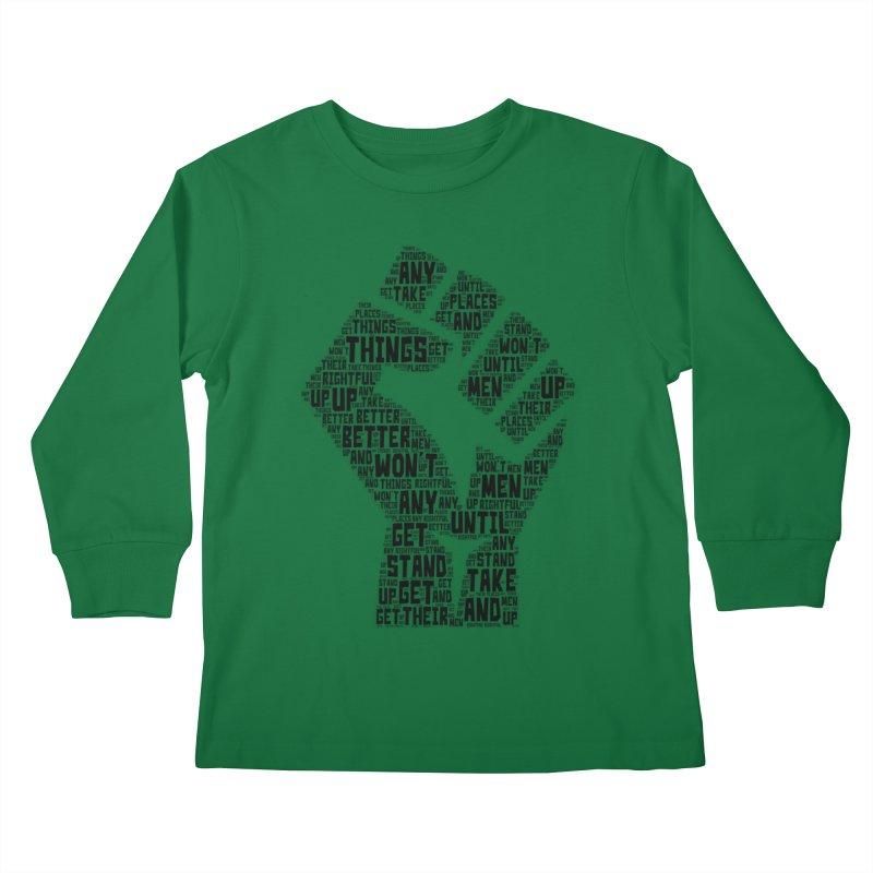 MEN STAND UP (Black) Kids Longsleeve T-Shirt by J. Brantley Design Shop