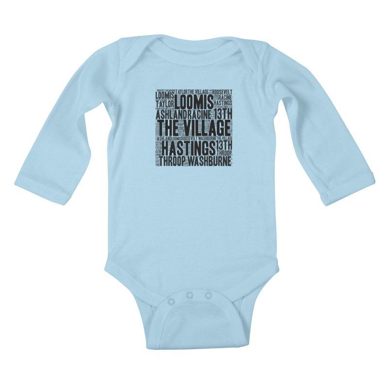 I'm From The Village Kids Baby Longsleeve Bodysuit by J. Brantley Design Shop