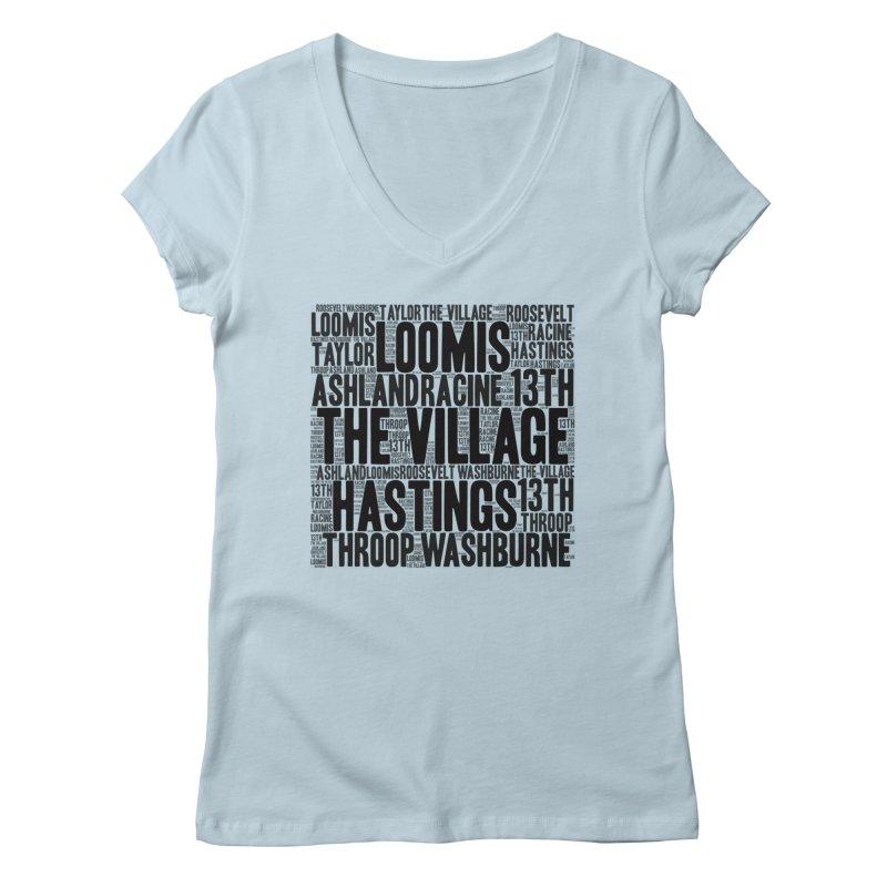 I'm From The Village Women's V-Neck by J. Brantley Design Shop