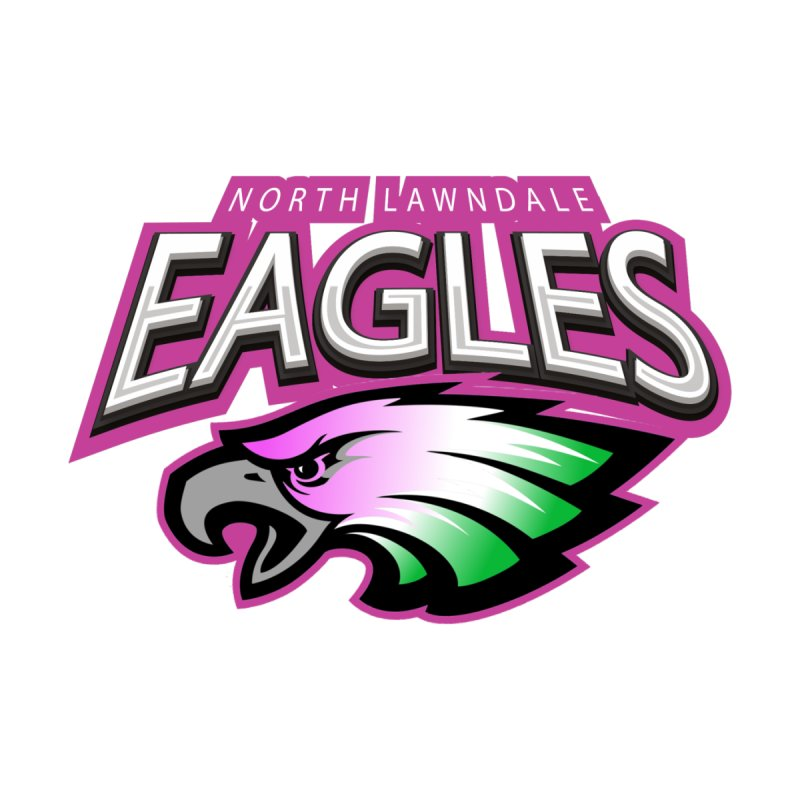 North Lawndale Eagles Breast Cancer Awareness by J. Brantley Design Shop