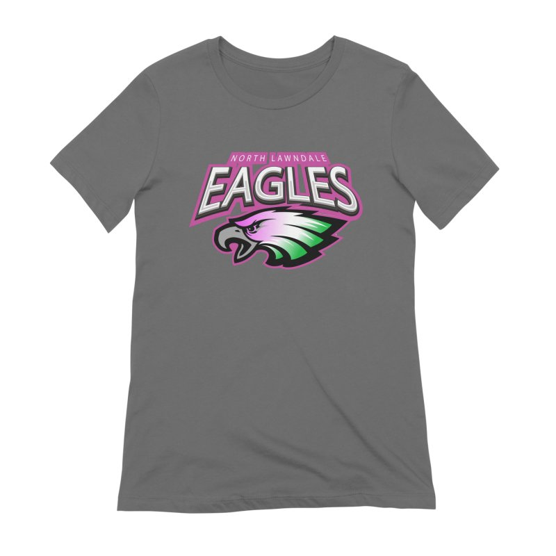 North Lawndale Eagles Breast Cancer Awareness Women's Extra Soft T-Shirt by J. Brantley Design Shop