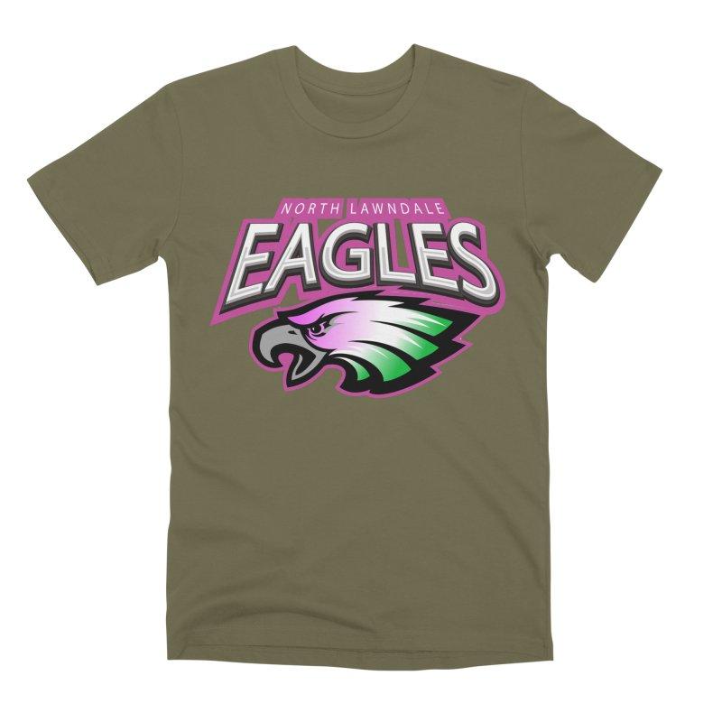 North Lawndale Eagles Breast Cancer Awareness Men's Premium T-Shirt by J. Brantley Design Shop