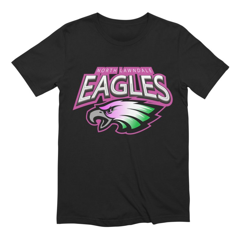 North Lawndale Eagles Breast Cancer Awareness Men's Extra Soft T-Shirt by J. Brantley Design Shop