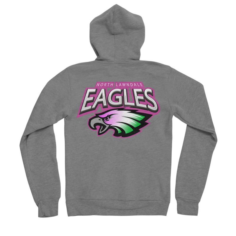 North Lawndale Eagles Breast Cancer Awareness Men's Sponge Fleece Zip-Up Hoody by J. Brantley Design Shop