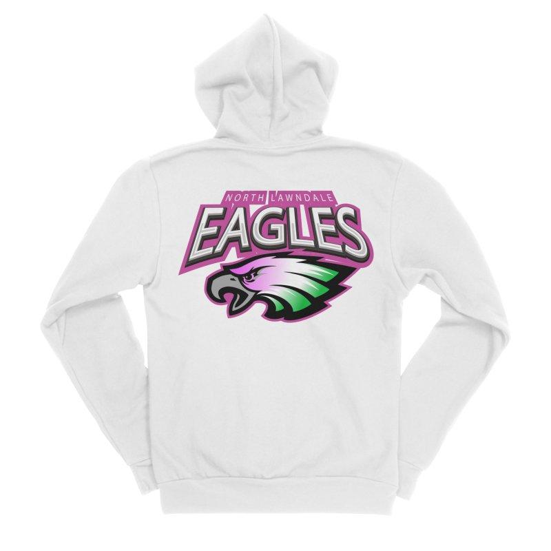 North Lawndale Eagles Breast Cancer Awareness Women's Sponge Fleece Zip-Up Hoody by J. Brantley Design Shop