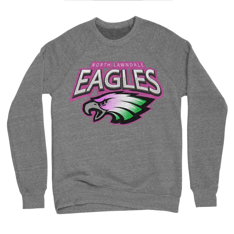 North Lawndale Eagles Breast Cancer Awareness Women's Sponge Fleece Sweatshirt by J. Brantley Design Shop