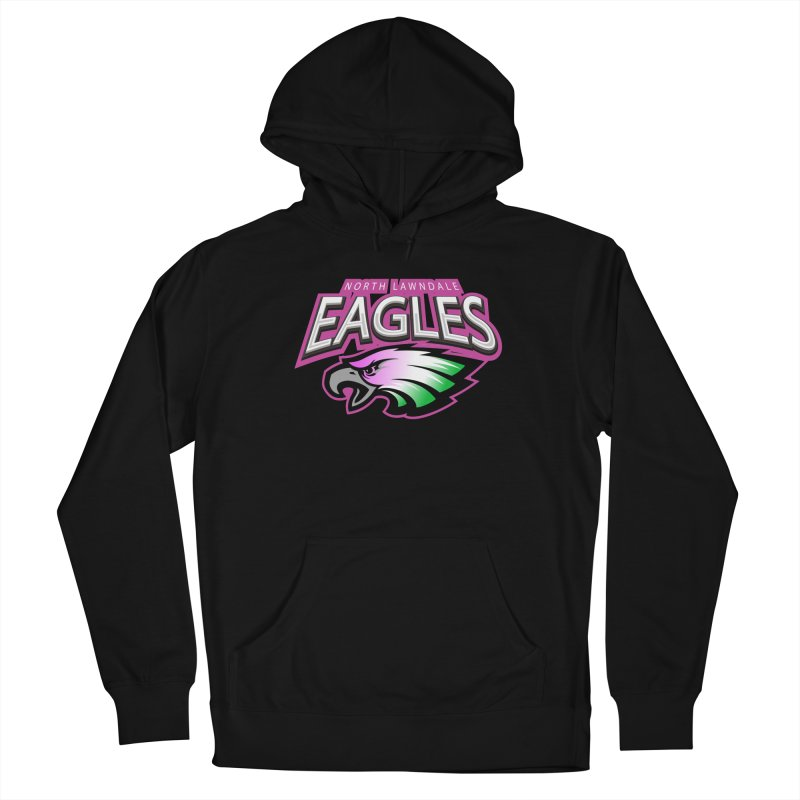 North Lawndale Eagles Breast Cancer Awareness Women's French Terry Pullover Hoody by J. Brantley Design Shop