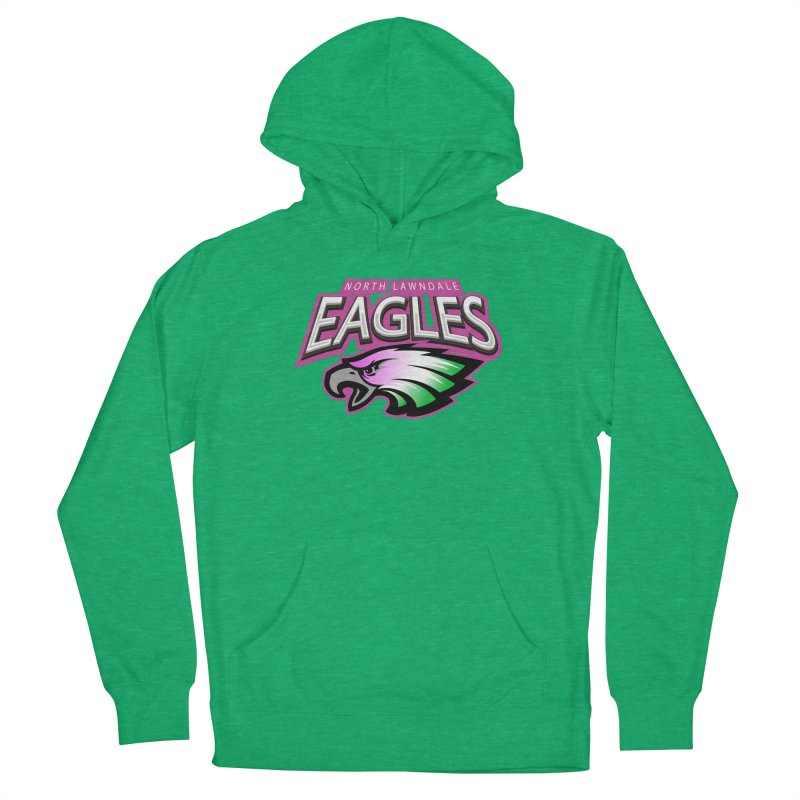 North Lawndale Eagles Breast Cancer Awareness Men's French Terry Pullover Hoody by J. Brantley Design Shop