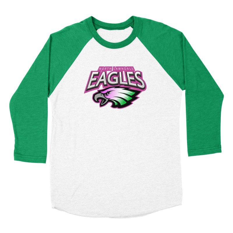 North Lawndale Eagles Breast Cancer Awareness Men's Baseball Triblend Longsleeve T-Shirt by J. Brantley Design Shop