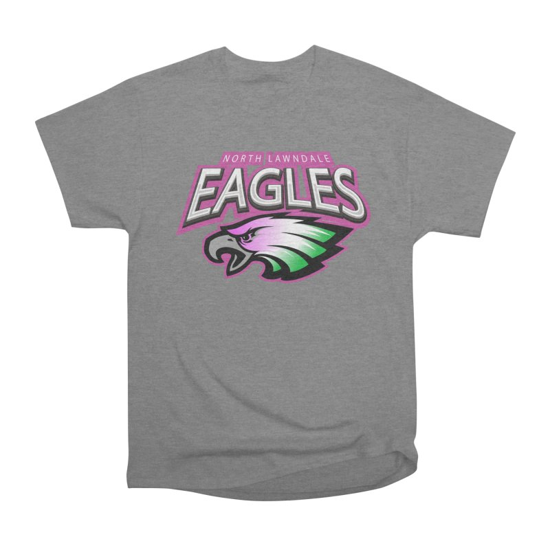 North Lawndale Eagles Breast Cancer Awareness Women's Heavyweight Unisex T-Shirt by J. Brantley Design Shop