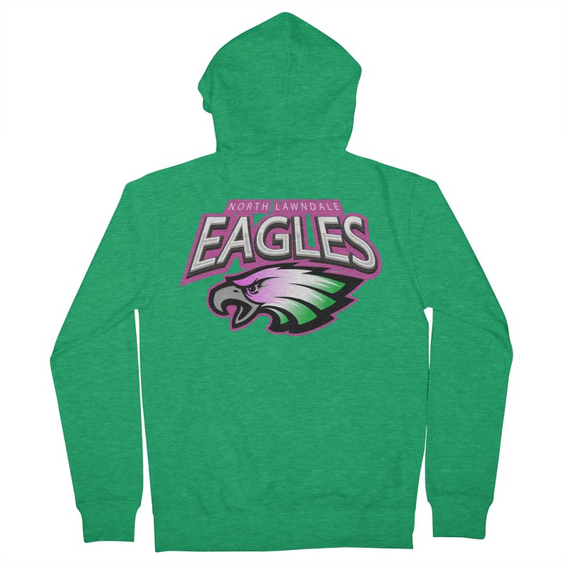 North Lawndale Eagles Breast Cancer Awareness Women's Zip-Up Hoody by J. Brantley Design Shop