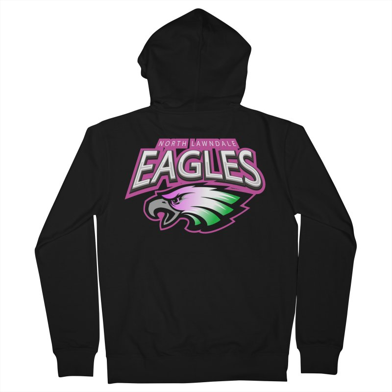 North Lawndale Eagles Breast Cancer Awareness Women's French Terry Zip-Up Hoody by J. Brantley Design Shop