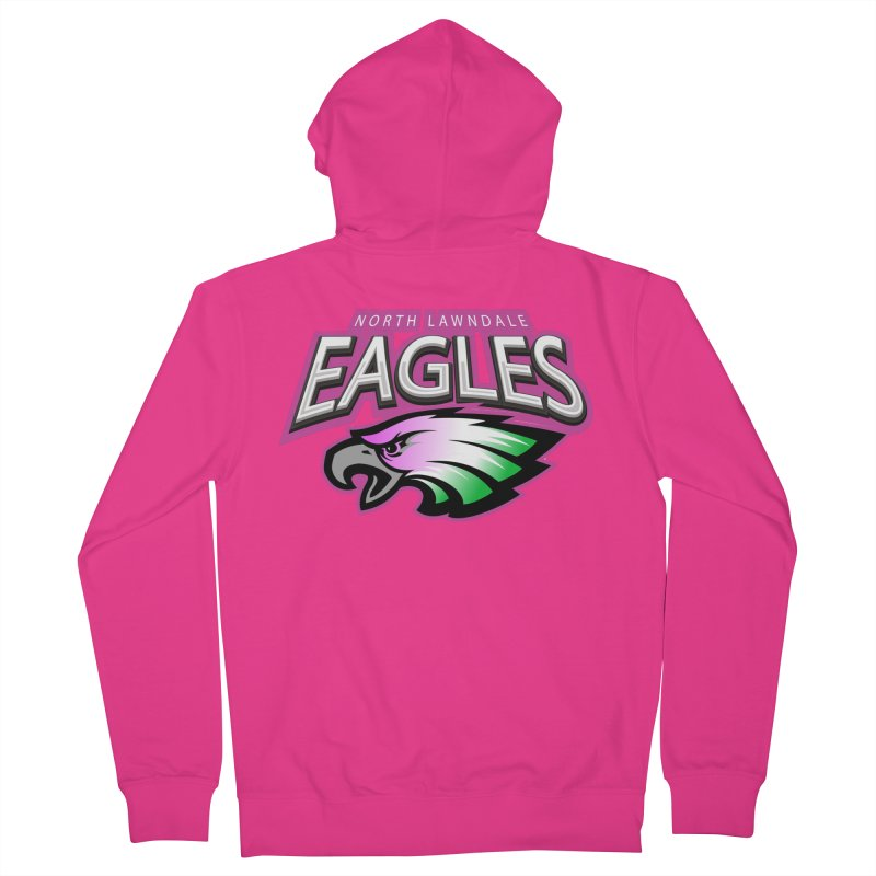 North Lawndale Eagles Breast Cancer Awareness Men's French Terry Zip-Up Hoody by J. Brantley Design Shop