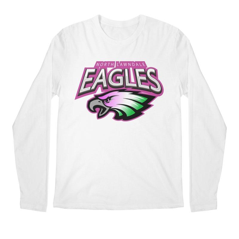 North Lawndale Eagles Breast Cancer Awareness Men's Regular Longsleeve T-Shirt by J. Brantley Design Shop