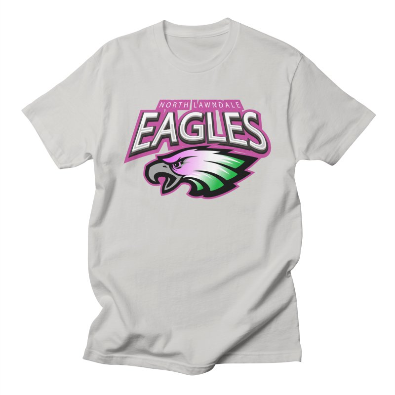 North Lawndale Eagles Breast Cancer Awareness Men's T-Shirt by J. Brantley Design Shop