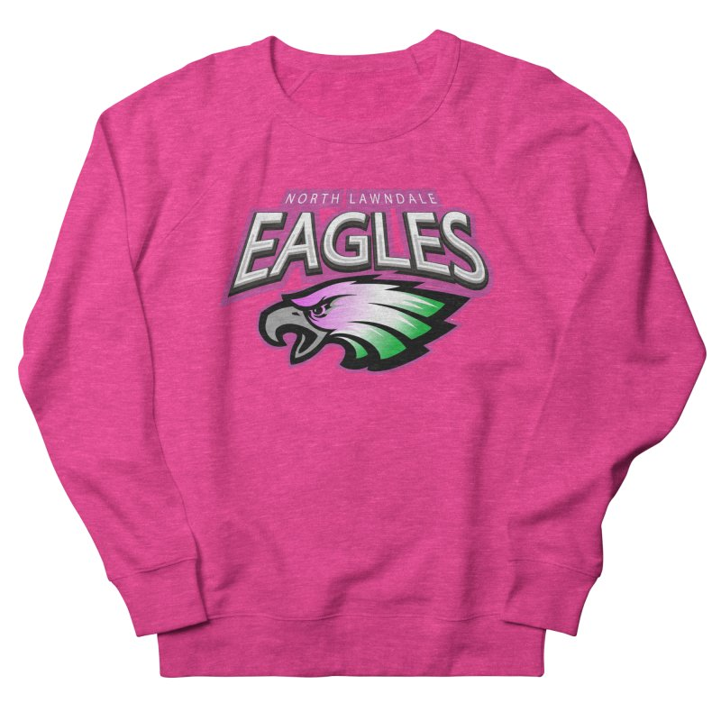North Lawndale Eagles Breast Cancer Awareness Women's French Terry Sweatshirt by J. Brantley Design Shop