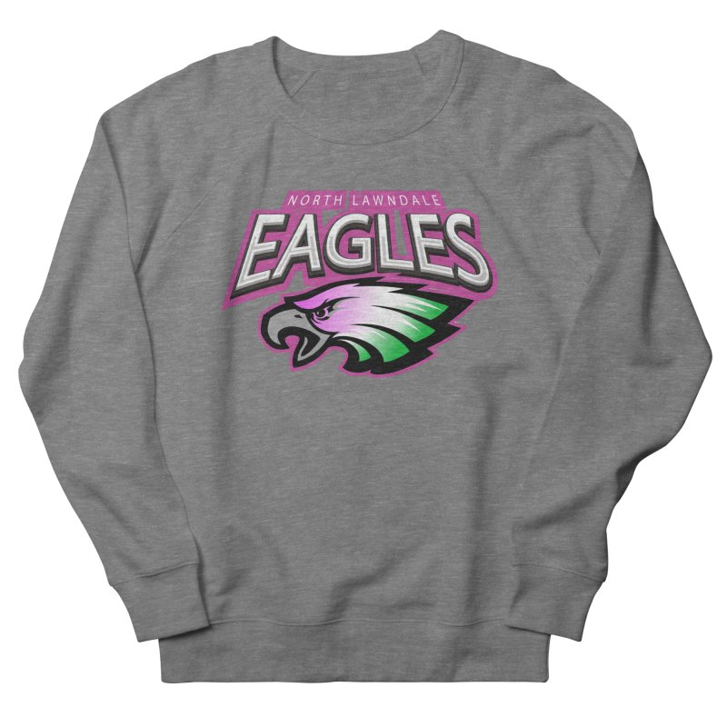North Lawndale Eagles Breast Cancer Awareness Men's French Terry Sweatshirt by J. Brantley Design Shop