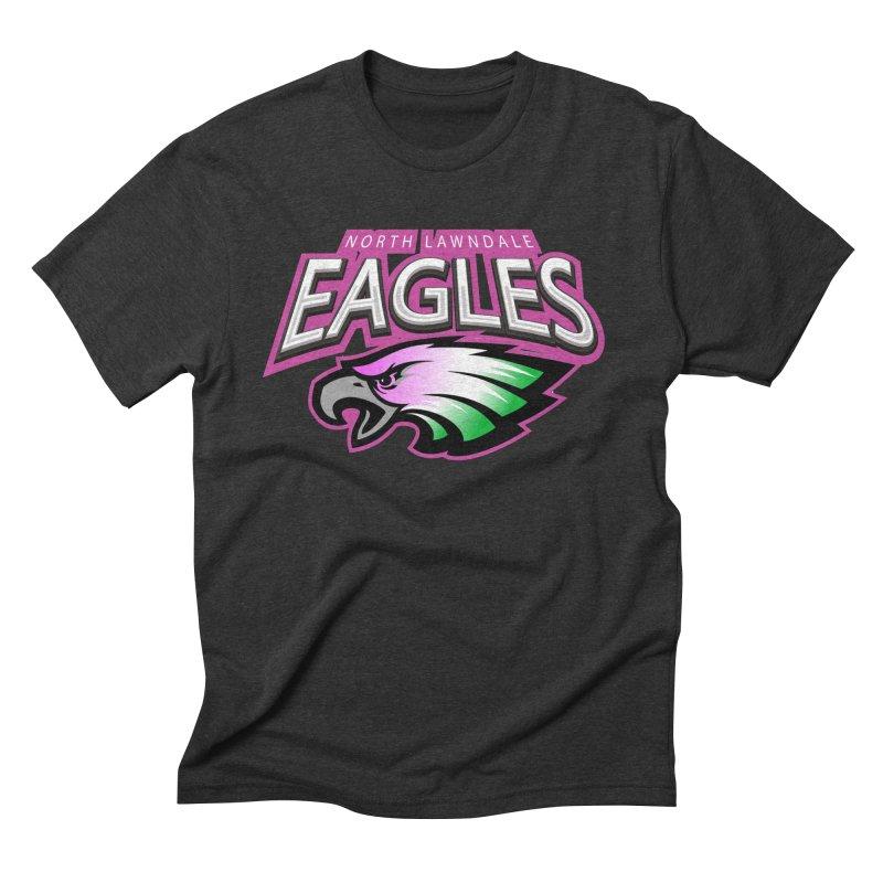 North Lawndale Eagles Breast Cancer Awareness Men's Triblend T-Shirt by J. Brantley Design Shop