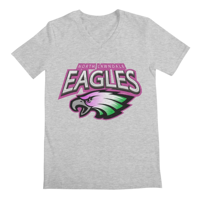 North Lawndale Eagles Breast Cancer Awareness Men's Regular V-Neck by J. Brantley Design Shop