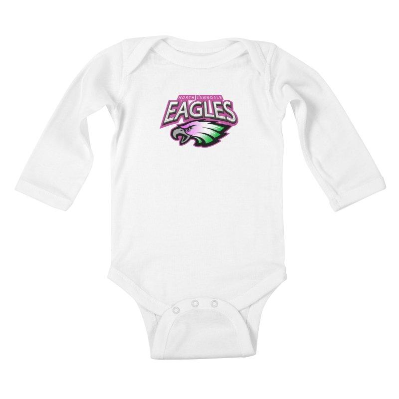 North Lawndale Eagles Breast Cancer Awareness Kids Baby Longsleeve Bodysuit by J. Brantley Design Shop