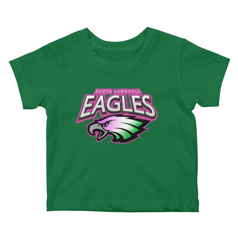 North Lawndale Eagles Breast Cancer Awareness Kids Baby T-Shirt by J. Brantley Design Shop